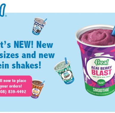 New Freal Flavors and Protein Shakes - Call us now for more information! (808) 839-4492